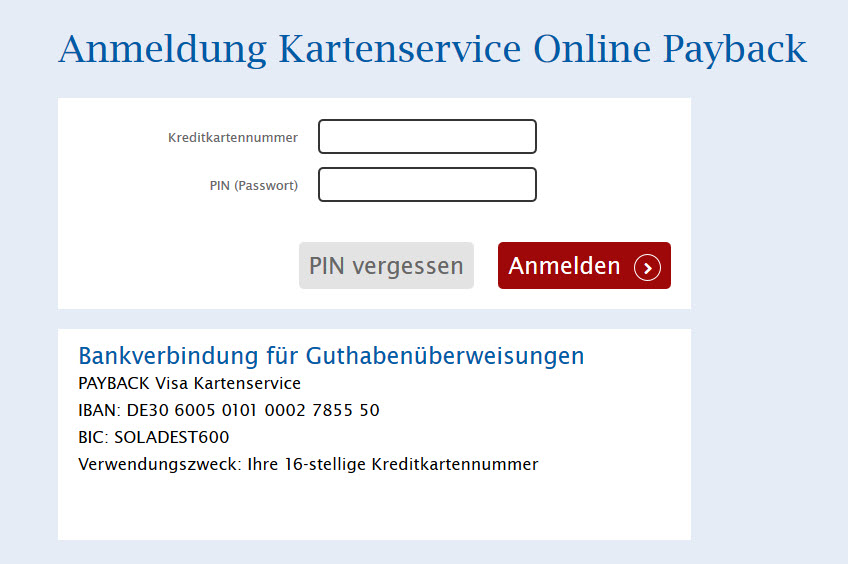 Payback Visa Karte.Payback Visa Comdirect