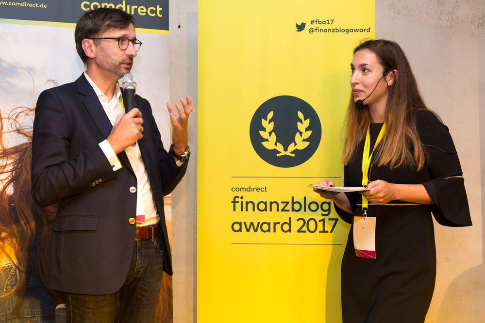 Sven Deglow, Vorstandsmitglied von comdirect, über die Idee des finanzblog awards