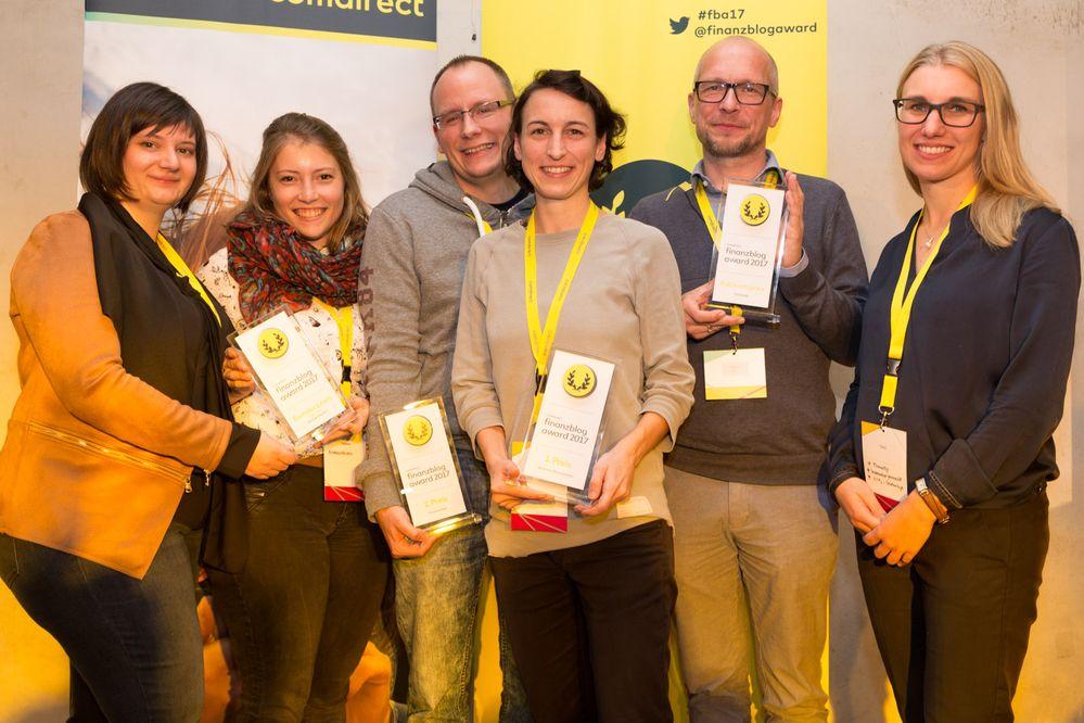 Alle Gewinner des finanzblog awards 2017