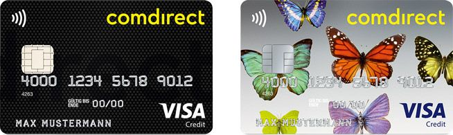 Visa Karte Comdirect.Kreditkarte Girokarte Mit Eigenem Motiv Comdirect