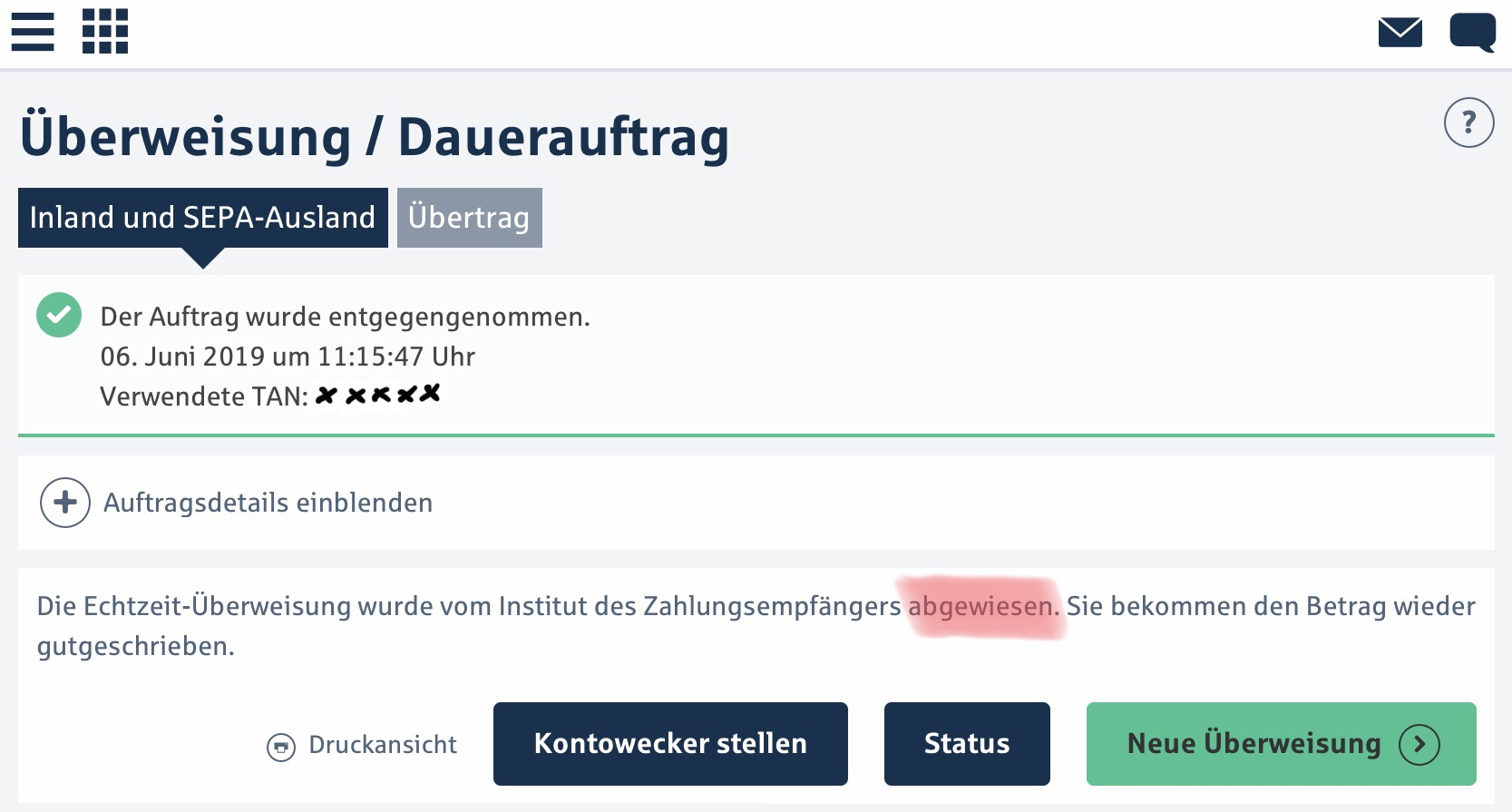 Гјberweisung Comdirect