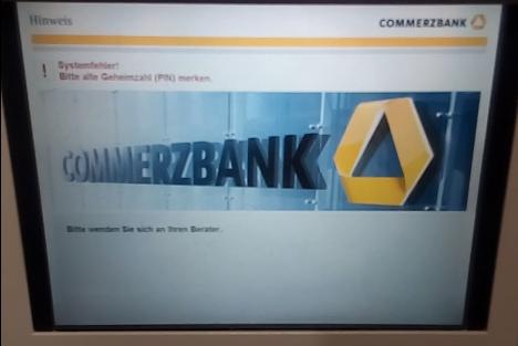 Commerzbank Karte.Gelöst änderung Der Geheimzahl Der Girocard Funktioniert